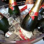 Nieuwjaar-champagne